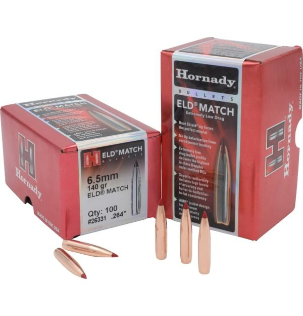 Hornady 6.5mm (.264) 140 gr ELD Match Bullets