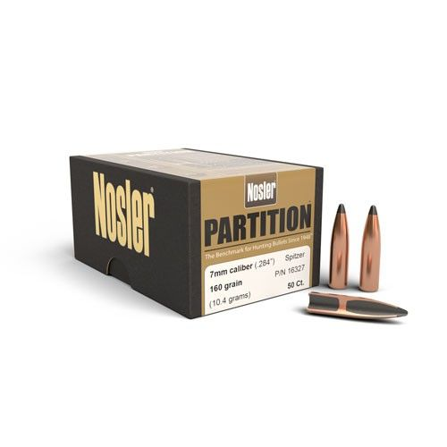 Nosler 7mm (.284) 160gr Partition Bullet