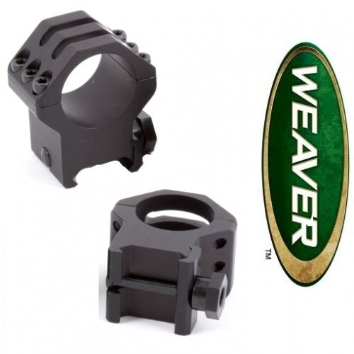 "Weaver Six Hole Tactical-Style Rings 1"" Medium Black Matte"