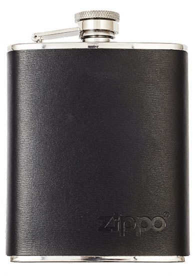 Zippo Leather Bound 6oz Flask
